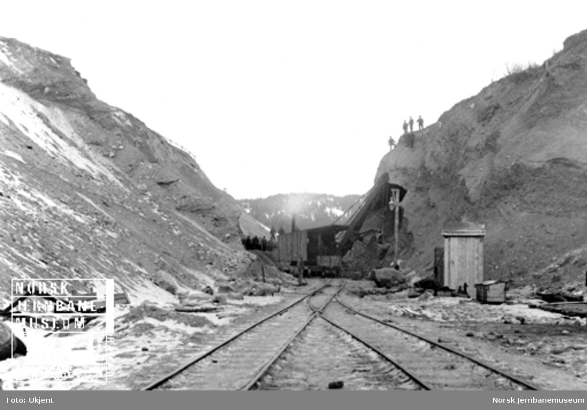Dampgravemaskin (Excavator) i Våttabakkskjæringen ved Steinkjer $sfoto