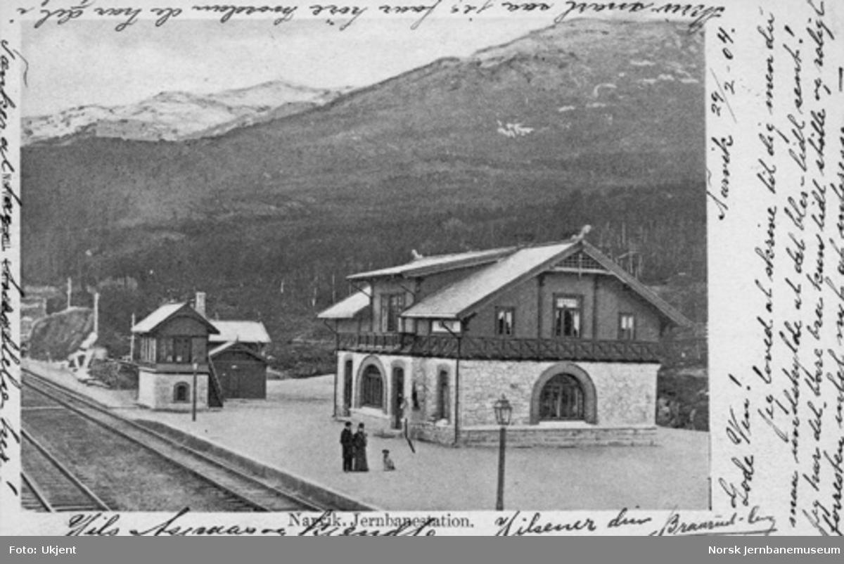 Narvik stasjon kort tid etter banens åpning