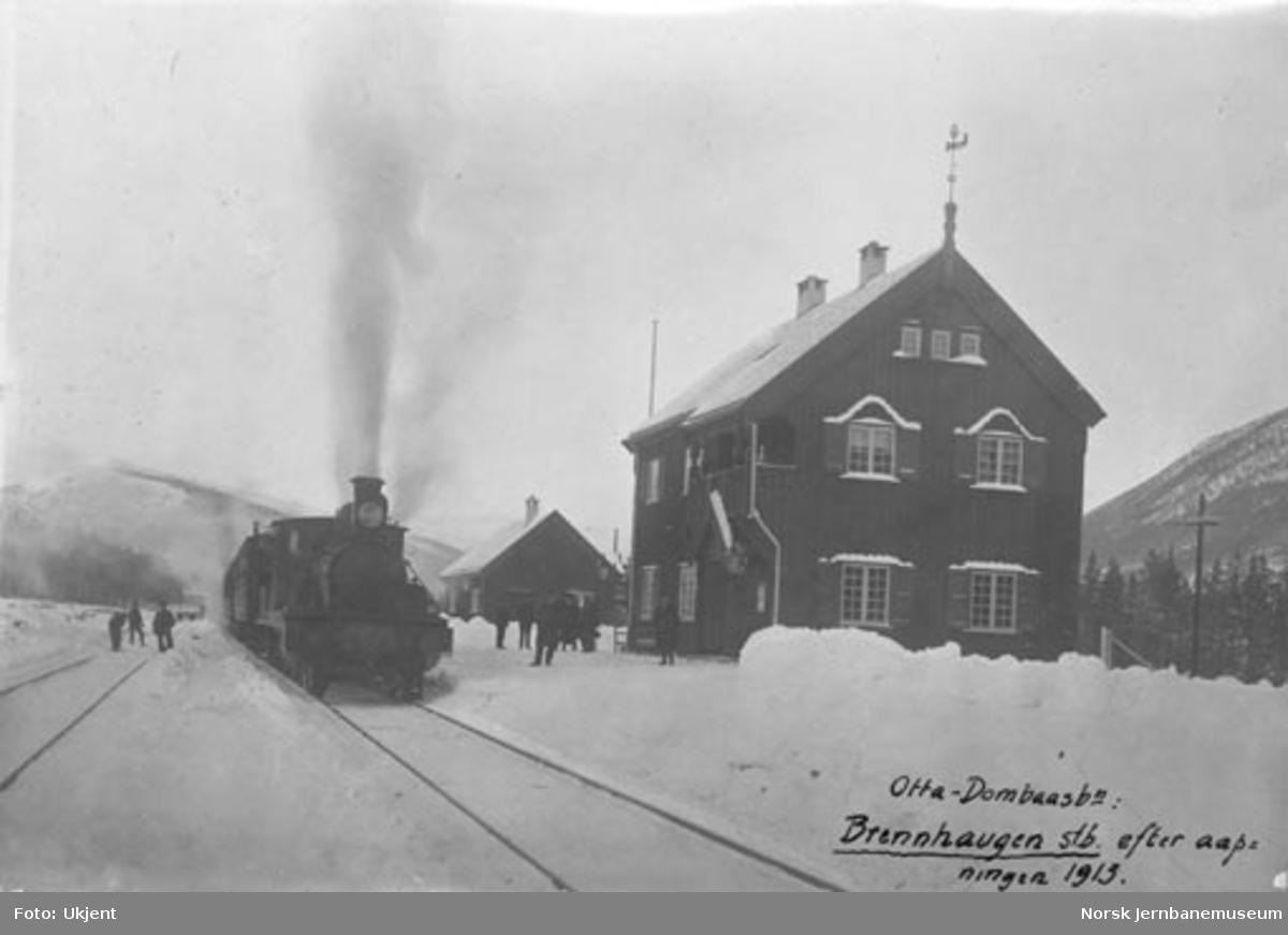 Brennhaug stasjon med sørgående tog