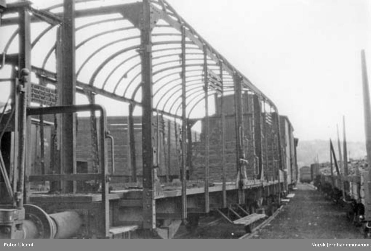 Brannskadet godsvogn litra G type Dresden