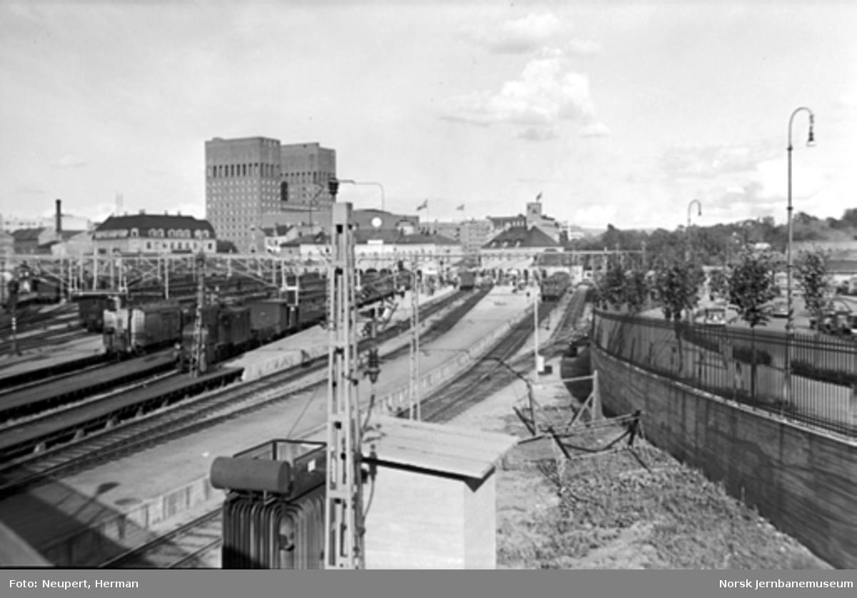 Oversiktsbilde over Oslo Vestbanestasjon