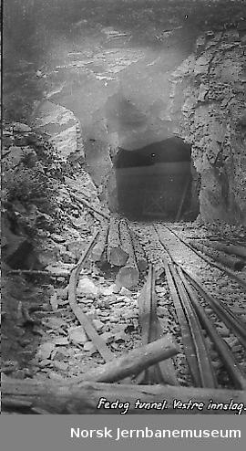 Vestre innslag til Fedog tunnel