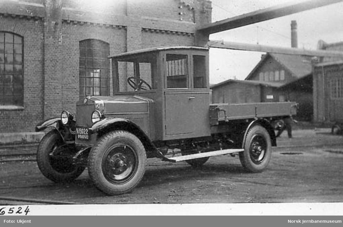 Fiat lastebil til forhandleren Bertel O. Steen, med prøveskilt A-15022