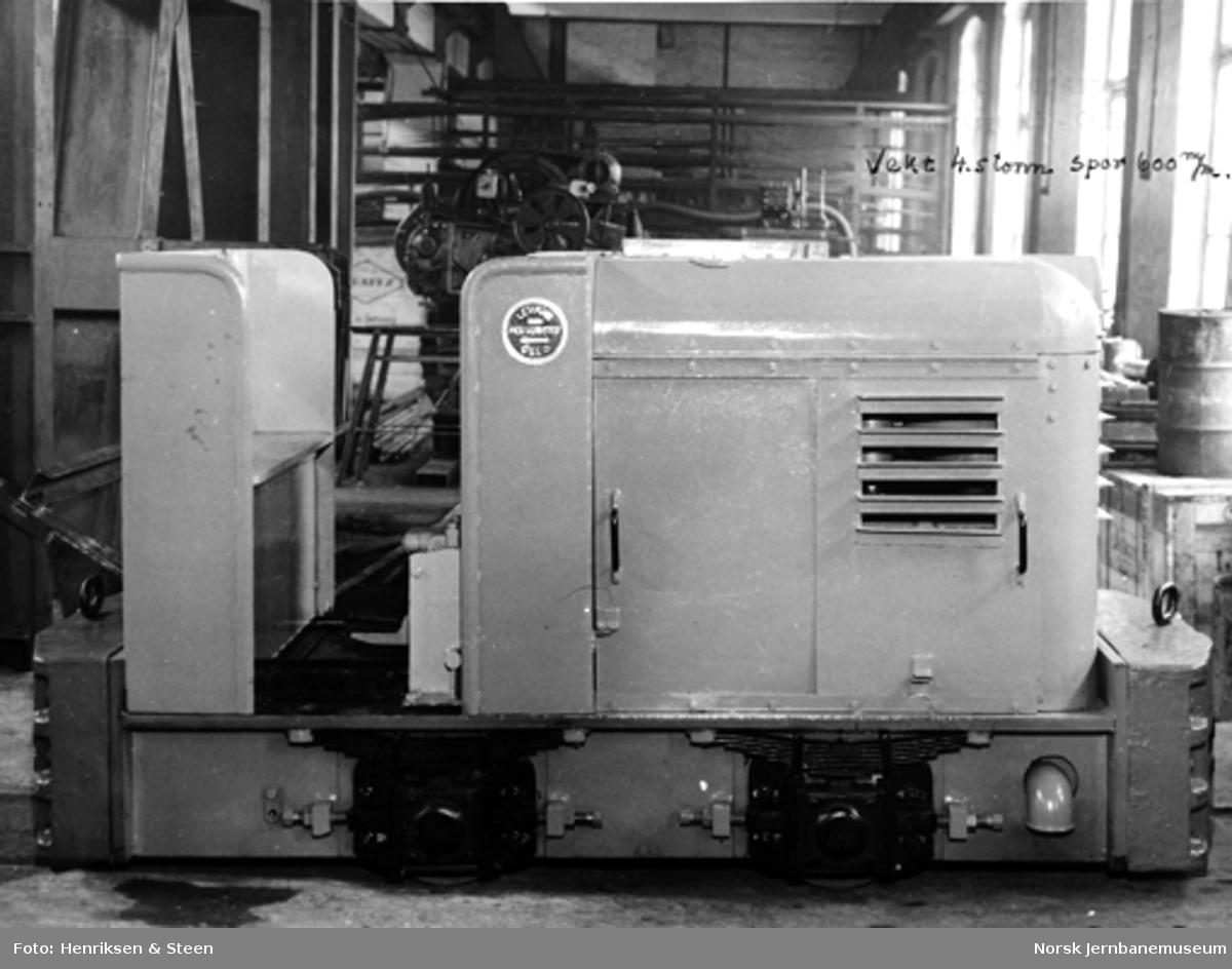 Levahn 4,5 tonns diesellokomotiv, 600 mm sporvidde, ferdig til levering