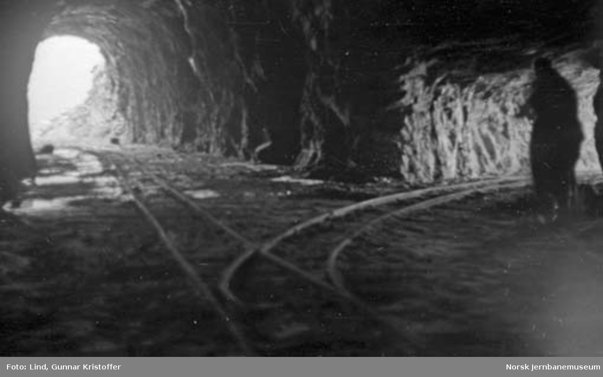 Nordlandsbaneanlegget : sørenden av Kvænflåget tunnel med tverrslag