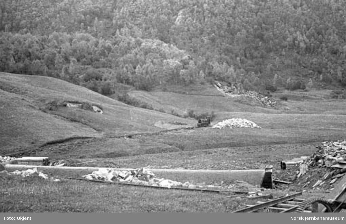 Nordlandsbaneanlegget : anleggsarbeid i Røvikja