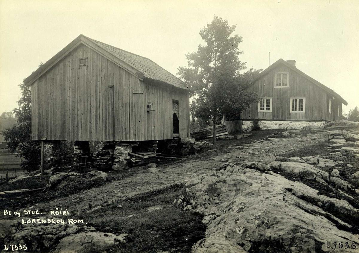 Røiri, Lørenskog, Nedre Romerike, Akershus. Bu og stue.