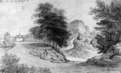 "BambleFra skissealbum av John W. Edy, ""Drawings Norway 1800"