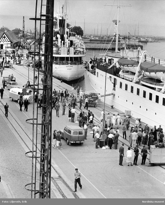 Gotlandsbåtar i Visby hamn