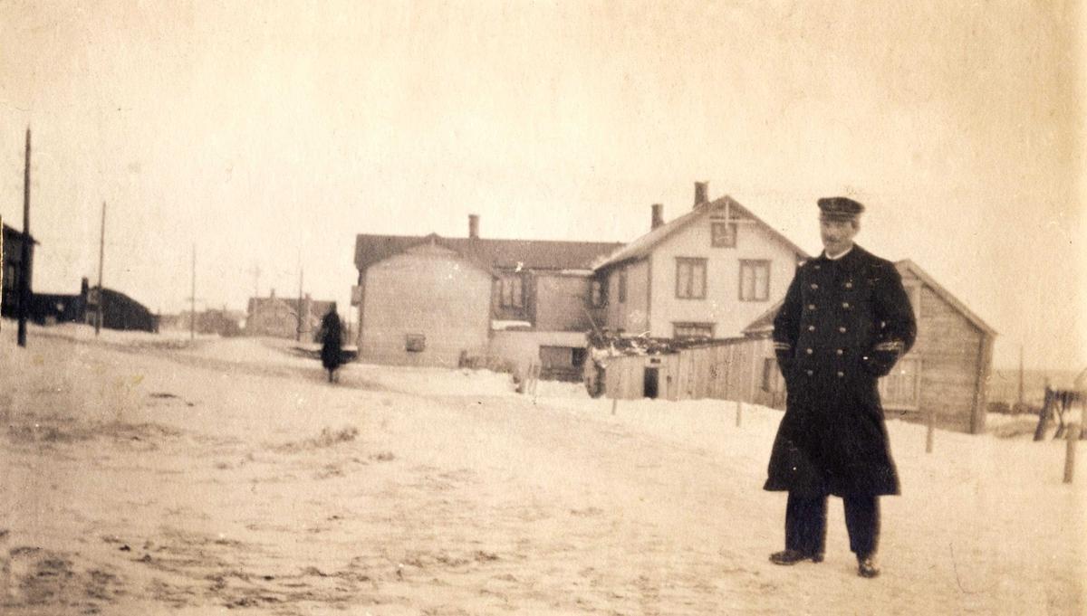 Sjømann på tur i Vadsø  1917-1918