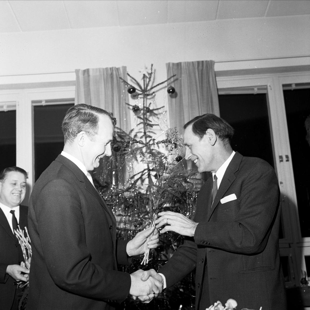 Avtackning av ledamöter i kommunfullmäktige som avgår, Tierp, Uppland 1966