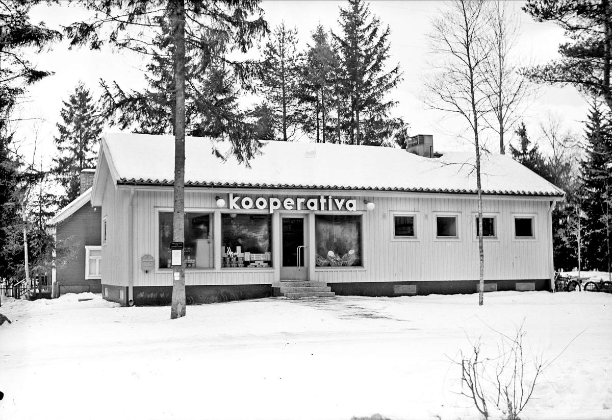Konsumbutik, Södra Parkvägen, Norby, Uppsala 1937