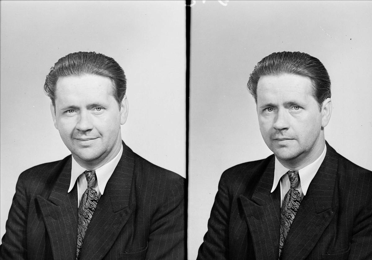 Ateljéporträtt - man, Magnusson, Uppsala juni 1949
