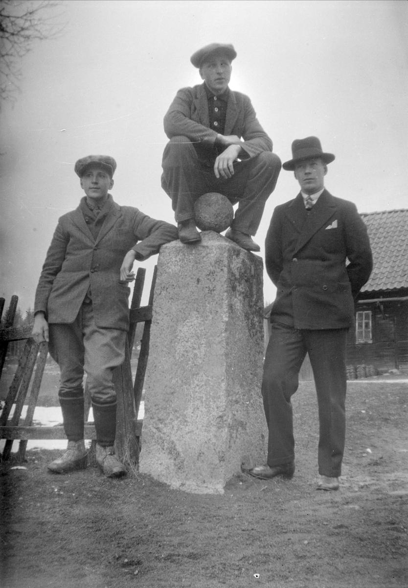 Göte och Gösta Blom, Ytterkvarn, Österunda socken, Uppland 1940 - 50-tal