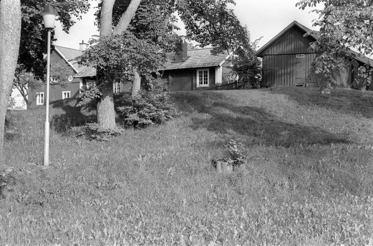 Vy från västsydväst över Vattholma 5:8, Vattholma, Lena socken, Uppland 1978
