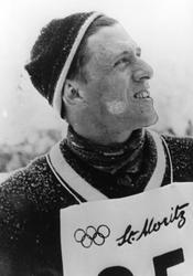 Petter Hugsted under vinter-OL i St. Moritz. i 1948.
