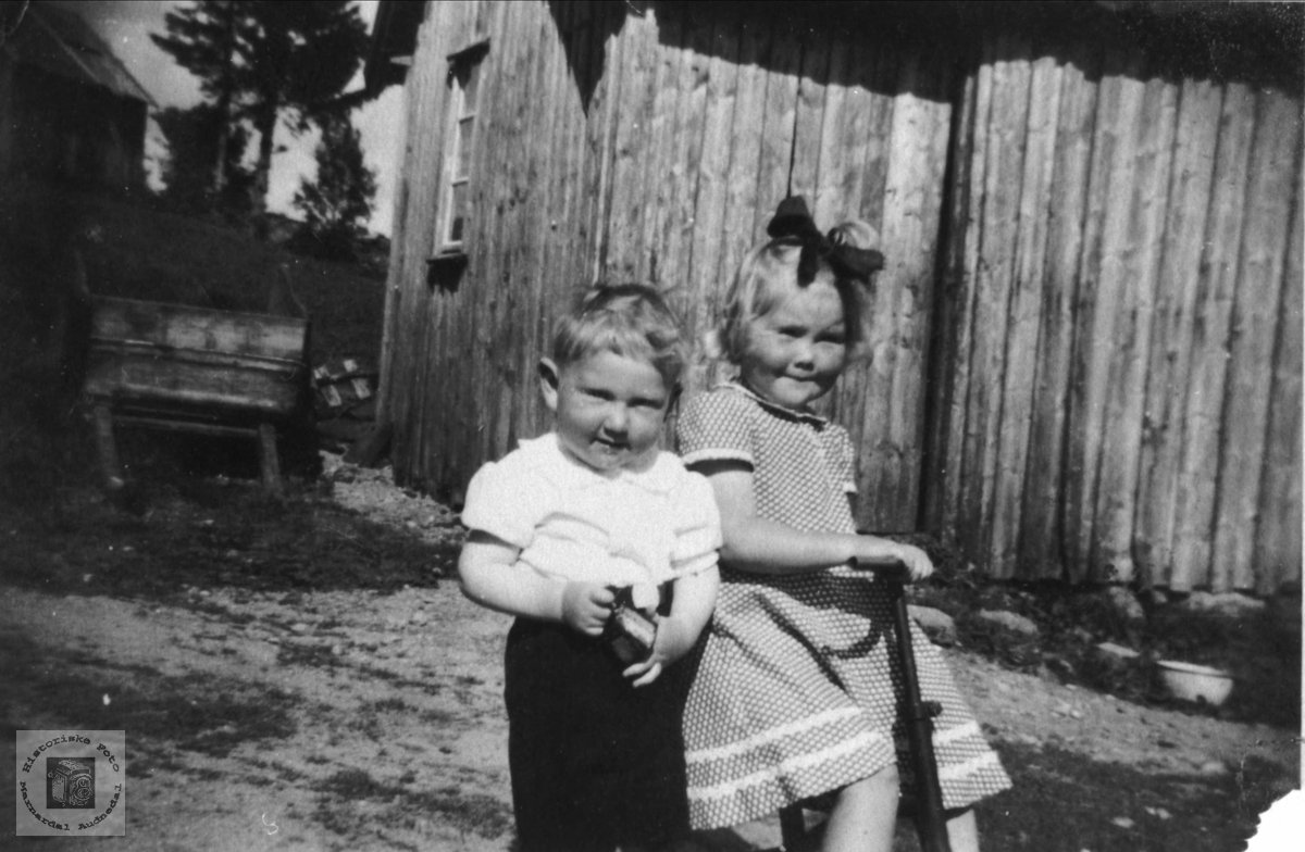 Portrett av Jonn Torje Abelset og Anne Torhild Abelseth gift Svensson, Bjelland.