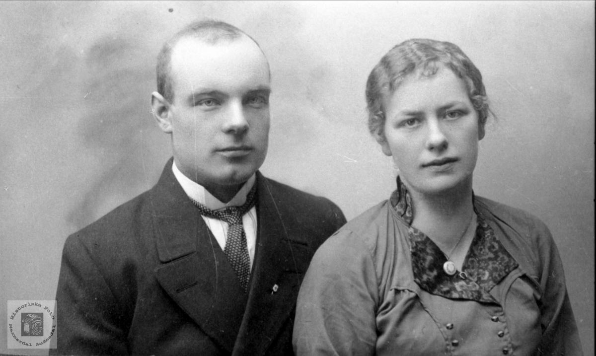 Ekteparet Torkjell og Tora Foss, Bjelland.