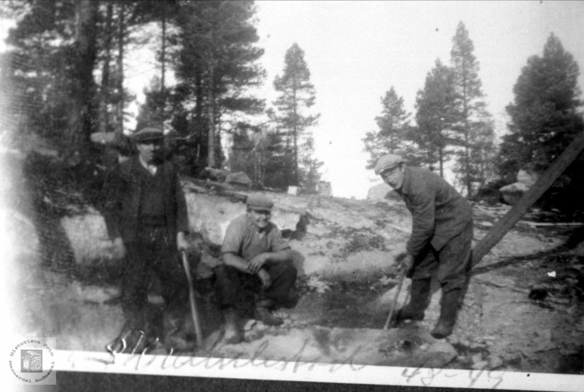 Veibygging (til Haraldstad, Bjelland?)