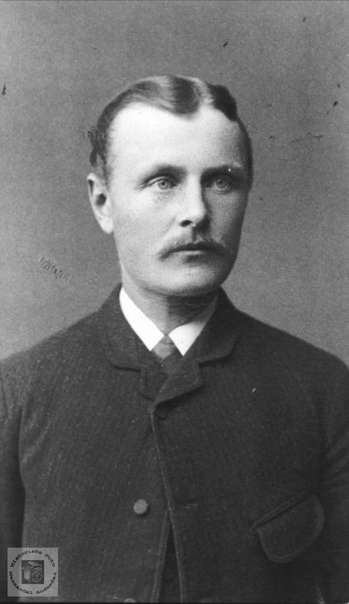 Portrett av Lars Mjåland, Åseral.