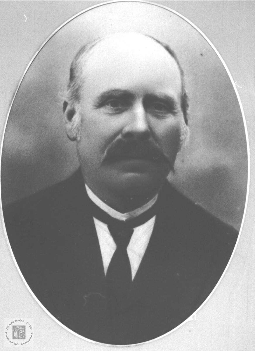 Portrett av Abraham Byremo Mjåland, Laudal.