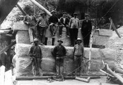 Hjukse jernbanebru 1915.