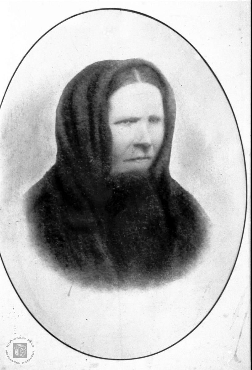 Portrett av Gunvor Øyslebø