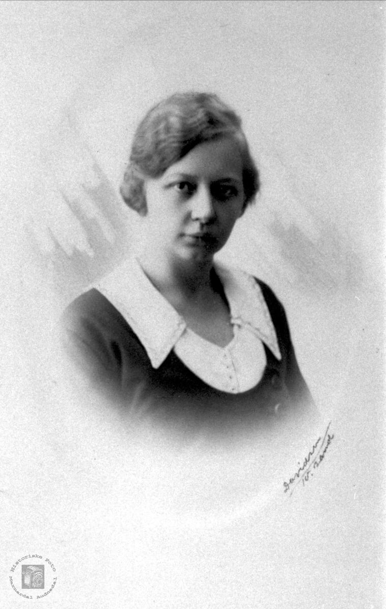 Portrett av Bergljot Andersen