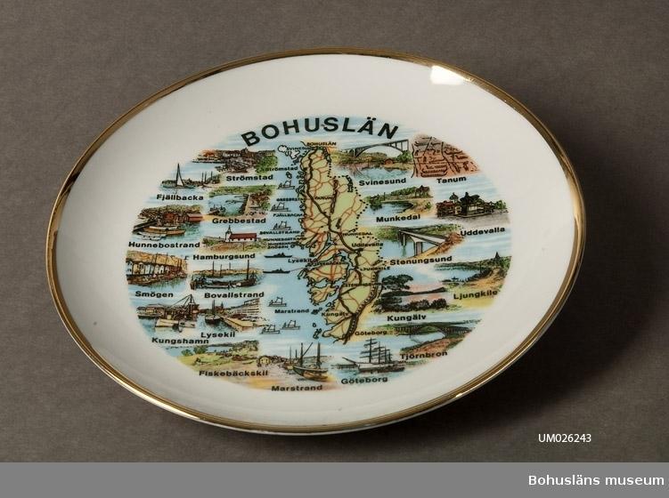 Bohusläns karta och ortsbilder