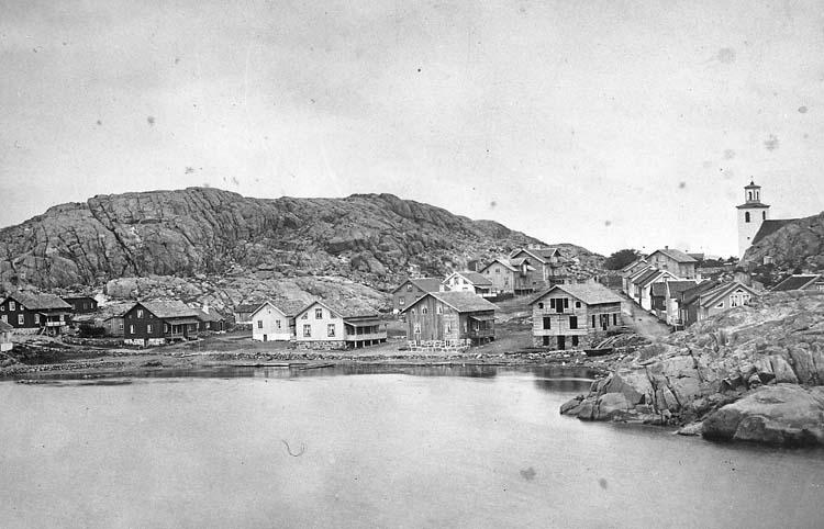 "Text på kortet: ""Kyrkviken 1878""."