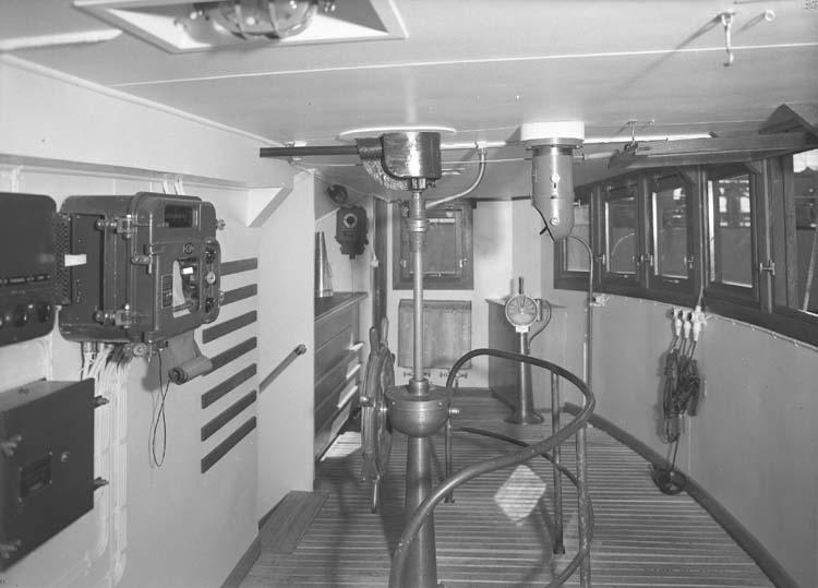 Bilder från styrhytt på fartyg 116-119, troligen från 116 S/S Vorkuta PT 57.