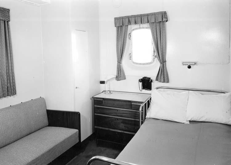 Interiör från fartyg 120 M/T Bittencourt Sampaio, hytt.