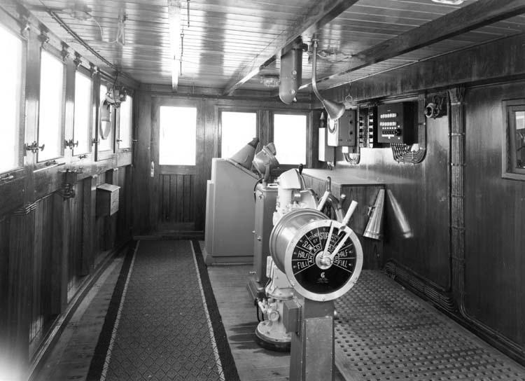 Interiör från fartyg 120 M/T Bittencourt Sampaio, styrhytten.