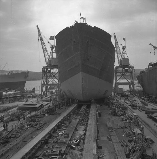 Sjösättning av fartyg 165 M/T Margareta.