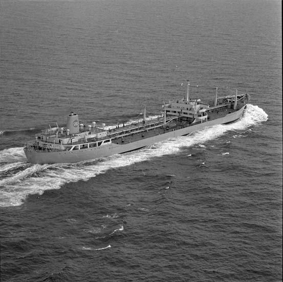 T/T Gulf Swede DWT.42.400 Rederi Nedgulf Tankers N.V., Rotterdam Kölsträckning 59-12-19 Nr. 181 Leverans 62-05-22 Tankfartyg
