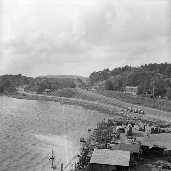Interna vägen mellan Kasen och Sörviksvarvet.