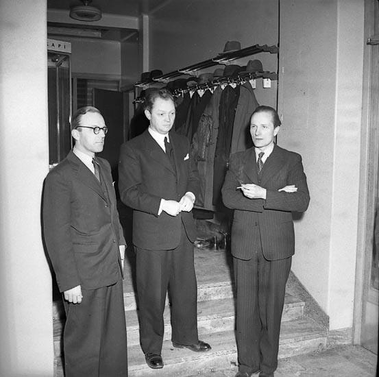 """Enligt notering: """"Statsrådet Torsten Nilsson 15/2 1947""""."""