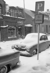 Snöstorm Uddevalla 1955.