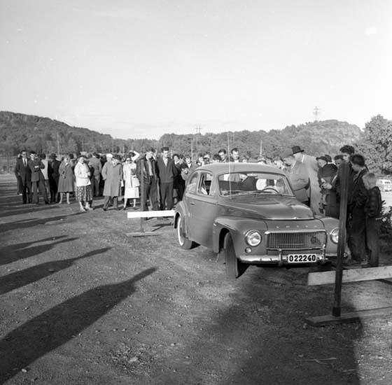 Laila Broström vinner  motortävling 1959