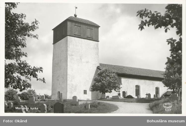 """Vykort. """"Morlanda kyrka."""""""
