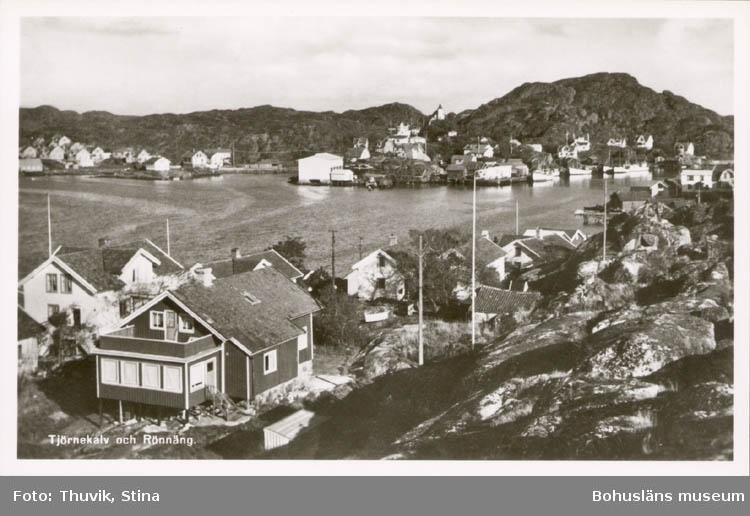 """Tryckt text på kortet: """"Tjörnekalv och Rönnäng."""" """"Thuviks Förlag, Skärhamn."""""""