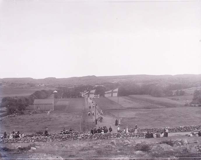 Vägen till dansbanan Grebbestad 1908