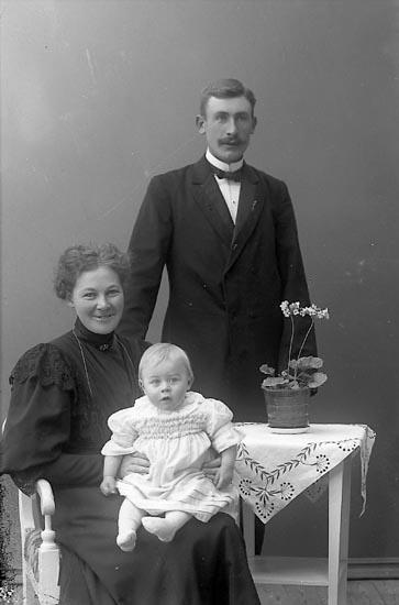 """Enligt fotografens journal nr 1 1904-1908: """"Josefsson Ferdinand Stenung Stenungsund""""."""