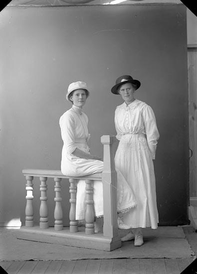 "Enligt fotografens journal nr 3 1916-1917: ""Adielsson, Fru Berta Grindstorp, Spekeröd""."