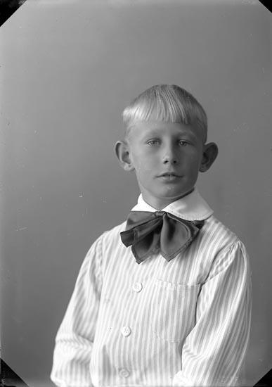 """Enligt fotografens journal nr 4 1918-1922: """"Beijer, (gossen) Ön""""."""