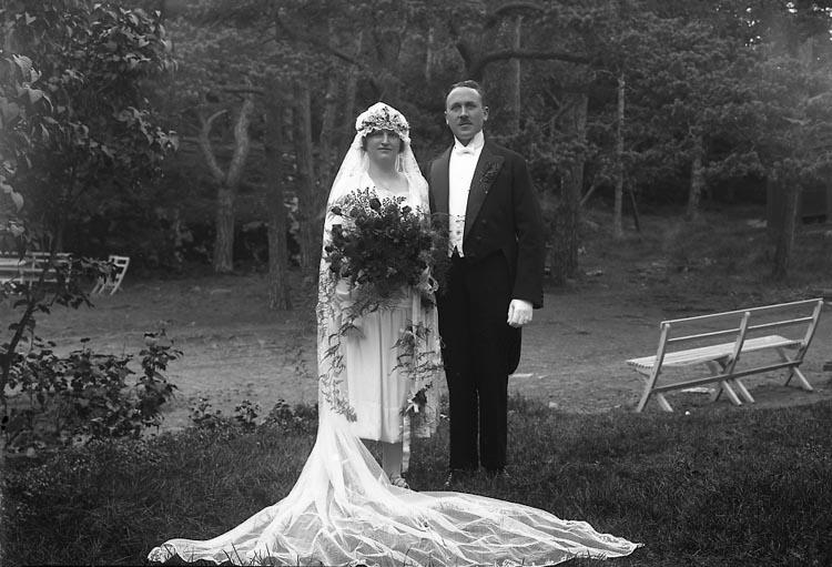 Brudparet Augusta och Joakim Rehnberg, 1927