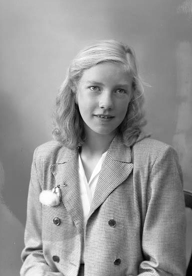 "Enligt fotografens journal nr 7 1944-1950: ""Andersson, Elsie Dalängsg. 34 Gbg""."