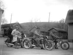 Motorcyklar i Kvistrum 1930-tal.