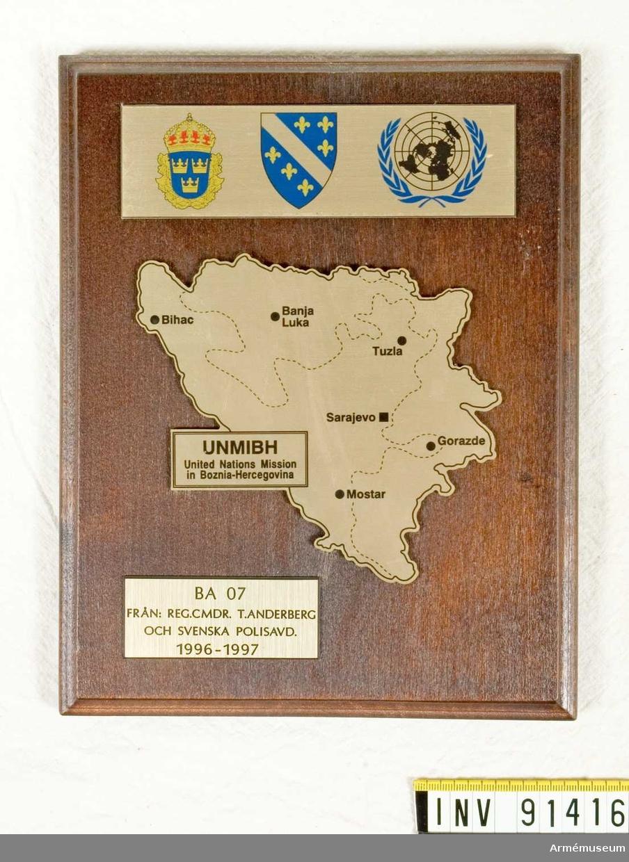 Karta Bosnien Och Hercegovina.Vapenskold Armemuseum Digitaltmuseum