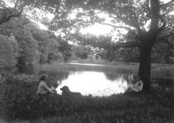 Vid dammen på Sundsby säteri i juli 1924